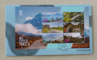 2018 NEW ZEALAND BYCYCLE TRAILS 6 STAMP MINI SHEET FDC FIRST DAY COVER