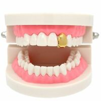 New 14k Gold Plated Small Single Tooth Plain Canine Cap Grillz Hip Hop Teeth