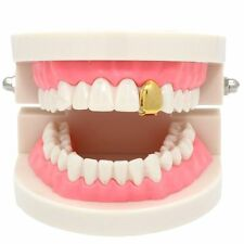 New 14k Gold Plated Small Single Tooth Plain Canine Cap Grillz Hip Hop Teeth