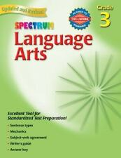 Spectrum Language Arts Grade 3, with Answer Key, Home school NEW