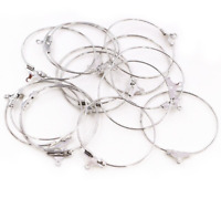 30pcs Hoop Earrings Findings Big Circle Ear Wire Hoops Earrings For DIY Jewelry