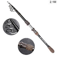 Carbon Fiber Fishing Rod Travel Spinning Casting Lure Rod Sea Saltwater Pole