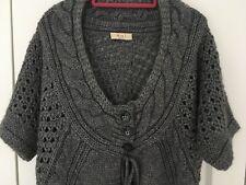 Oui new grey chunky knit cardigan size 16
