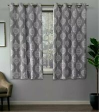 Exclusive Home Set of 2 Medallion Blackout Thermal Grommet Curtain Panels 52x84