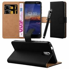 Icatchy for Nokia 3.1 Case Leather Wallet Flip Book Stand View Card Holder Cove