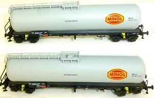 MINOL 2tlg Kesselwagen Set grau DR EpIV HERIS 80061 1 u 2 TT 1:120 OVP HN-HM µ