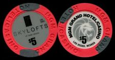 $5 Las Vegas MGM Grand Skylofts Casino Chip - Uncirculated