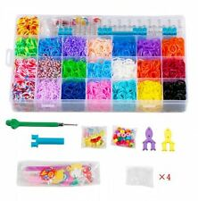STSTECH Rainbow Loom Kit-5600 Rubber Bands, 22 Colors, 1 Loom, 2 Y-Shape Mini Lo