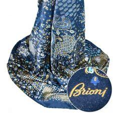 $495 New BRIONI Navy Oriental Floral 100% Silk Scarf Shawl Wrap Headscarf
