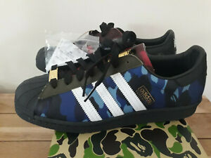 BAPE X ADIDAS SUPERSTAR MULTICOLOR SIZE 9 US NEW