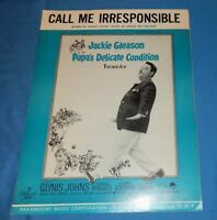 1958 Movie Sheet Music Jackie Gleason Papa's Delicate Condition Irresponsible
