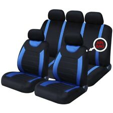 VW GOLF mk4 (99-05)  FRONT & REAR CAR SEAT COVER SET - BLUE WOVEN FABRIC