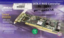 AMCC 3WARE 9550SXU-4LP PCI 64BIT SATA RAID CONTROLLER 701-3209-11 C - NEW!