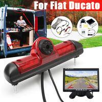 170 ° Telecamera Retromarcia Alta Freno Luce + 7'' Monitor Per Fiat Ducato