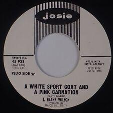 J. FRANK WILSON: White Sport coat and Pink Carnation JOSIE '65 Rock PROMO NM- 45
