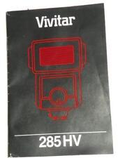 ORIGINAL INSTRUCTION MANUAL FOR VIVITAR 285HV ELECTRONIC FLASH