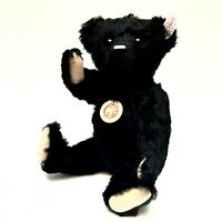 Teddy bear Steiff CLASSIC 1910 mohair black límited edition 1268/1910 NIB RARE🐻