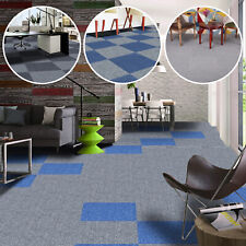 More details for 20 x mid grey carpet tiles 5m2 heavy duty commercial retail office flooring