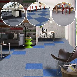 20 x MID GREY Carpet Tiles 5m2 Heavy Duty Commercial Retail Office Flooring