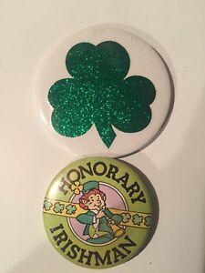 Irish-St. Patrick's Day buttons/pinback & 2 sets of beads