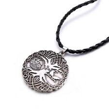 Norse Viking Tree Of Life Odin Pendant Warrior Mens Chain Necklace Jewelry