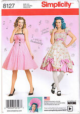 Vtg Retro 50s Rockabilly Halter Dress Lolita Sewing Pattern Plus 16 18 20 22 24