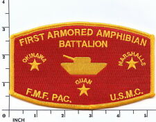 Usmc 1st Armored Amphibian Battalion Fmf-Pac Marines ! Patch for Wwii Veterans !