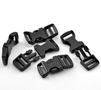 10 x 4.6cm Curved Black Plastic Buckles Buckle Side Release For 15mm Webbing Q35