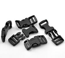 5 x 4.6cm Curved Black Plastic Buckles Buckle Side Release For 15mm Webbing Q31