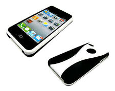 Stylish Grip Series Dual Black White Hard Cover Case For Apple iPhone 4 4S 4G