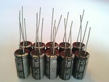 LOT of 10 (TEN)  CAPACITOR 1000uF - 25V 105 DEGREES USA FREE SHIPPING