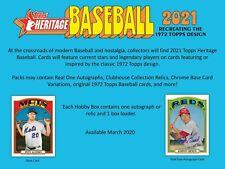 2021 Topps Heritage Baseball Hobby Box (1 Auto OR Relic per Box)