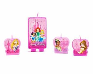 Disney Princess Cake Candles (4 pieces) - Birthday Party Supplies Cake Toppers