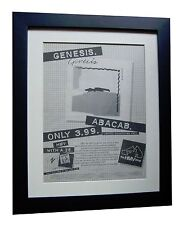 GENESIS+Abacab+POSTER+AD+RARE ORIGINAL 1981+TOP QUALITY FRAMED+FAST GLOBAL SHIP