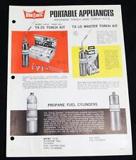 BERNZOMATIC PROPANE TORCH & TORCH KITS ADVERTISING SALES BROCHURE 1960s VINTAGE