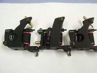 set of 3 pro alloy tempered tattoo machines,ready to go bargain,set up ready
