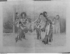 1889 I6/7 Musik Instrument Tracht Java Hang Klong Tänzerin Bayadère