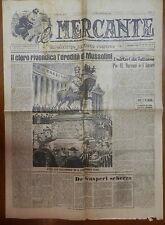 IL MERCANTE 20 febbraio 1947 Clero e Fascismo Pio XI Marconi e l Amore Borgia di