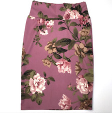 NEW! LuLaRoe SMALL Cassie Skirt ~ BEAUTIFUL Pink Mauve Floral!
