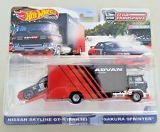 Hot Wheels ADVAN Nissan Skyline GT-R R32 Sakura Sprinter - 2021 Team Transport