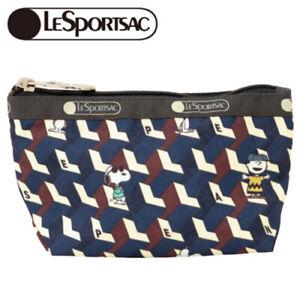 LeSportsac x PEANUTS SMALL SLOAN COSMETIC Peanuts Geometric from JP NEW