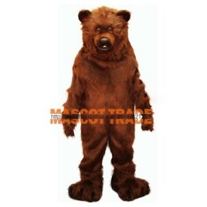 Friendly Grizzly Bear Mascot Costume Cartoon Animal Cosplay Costume Adult Size