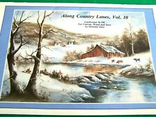 ALONG COUNTRY LANES V10 BY DOROTHY DENT 1987 OIL LANDSCAPES TOLE PAINT BOOK