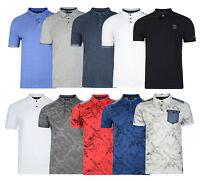 Firetrap New Men's Casual Cotton Polo Piqué Shirt Retro T-shirt Fashion Top