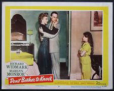 DON'T BOTHER TO KNOCK MARILYN MONROE RICHARD WIDMARK 1952 LOBBY CARD #3