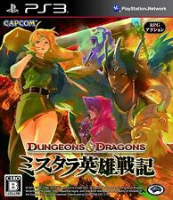 PS3 Dungeons & Dragons Chronicles Of Mystara D&D Japan Import Free Shipping F/S
