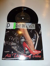 "BRUCE DICKINSON - All The Young Dudes - 1990 UK 2-track 7"" Vinyl Single"