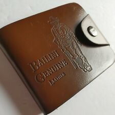 Bailini Genuine Leather Western Mens Wallet Brown Snap Close New b61