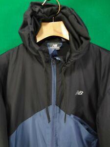 New Balance blue / black full zip windbreaker jacket M medium lined
