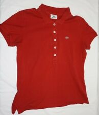 2821f583150b6a LACOSTE Women s Red Size S Small Classic Fit Cotton Petite Polo Shirt EU 42